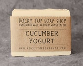 Cucumber Yogurt Soap- All Natural Soap, Handmade Soap, Cold Process Soap, Unscented Soap