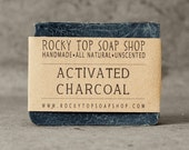 Bamboo Activated Charcoal Soap - All Natural Soap, Handmade Soap, Unscented Soap, Detox Soap, Vegan Soap