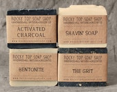 Manly Man Soap Set - Natural Soap - Handmade Soap - Unscented Soap - Vegan Soap - Mens Gift Set - RockyTopSoapShop