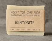Bentonite Clay Soap - All Natural Soap, Handmade Soap, Fragrance Free Soap, Vegan Soap