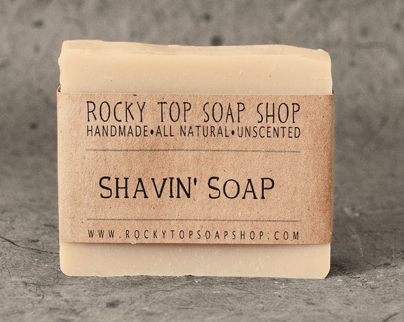 Shaving Soap - Shaving Cream Soap - Shaving Bar - All Natural Soap, Handmade Soap, Unscented Soap, Cold Process Soap, Vegan Soap