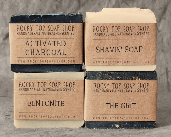 Manly Man Soap Set, Natural Soap, Handmade Soap, Unscented Soap, Vegan Soap, Mens Gift Set, Mens Skincare
