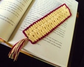 Gryffindor Colors Crocheted Bookmark