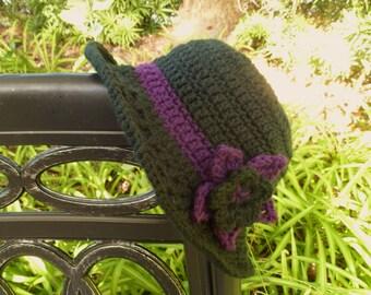 Black Crocheted Sunroof Sun Hat