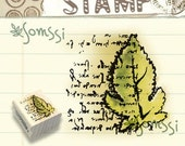 Tree Leaf Words Card Wooden Wood Rubber Stamp