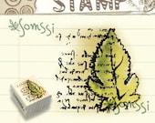 Tree Leaf Words Card Wooden Wood Rubber Stamp
