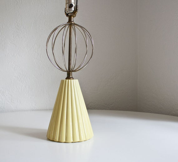Mid Century Modern Yellow Atomic Lamp