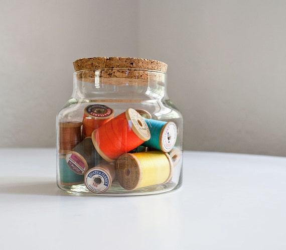 Glass & Cork Storage Jar
