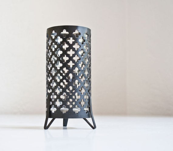 Mid Century Gothic Quatrefoil Candle Holder
