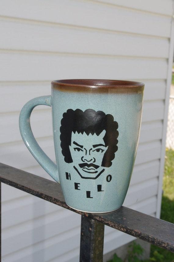 BLUE AND BROWN Lionel Richie Coffee Mug (15 oz)