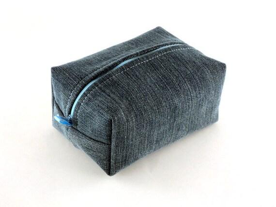 Handmade Upcycled Denim Makeup Bag