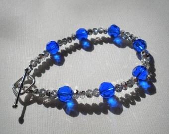 Blue & Silver Bracelet - Small Wrists