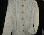 """James Pringle Scotland  sweater size  M  40"""" chest chunky cable Rockabilly"""