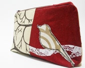 eco friendly wedge pouch in Sparrow