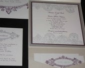 Soho Collection Invitation Suite SH201112 - Vintage Lace - silver & amethyst