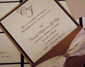 Fifth Avenue Collection Invitation Suite FA201130 - Dressed to Kill with Swarovski Crystals gold & brown