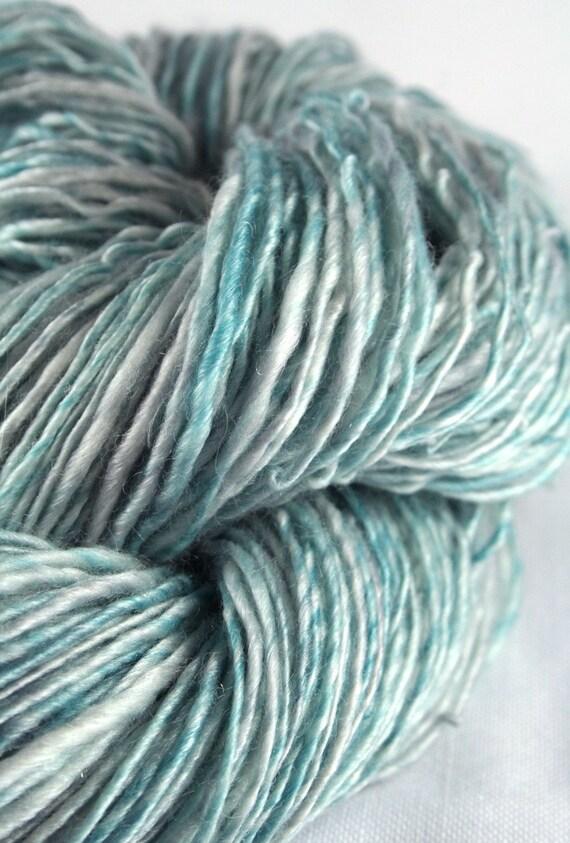 GLACIER BAY Handspun and Hand-dyed Merino/Tencel Fingering Weight Yarn