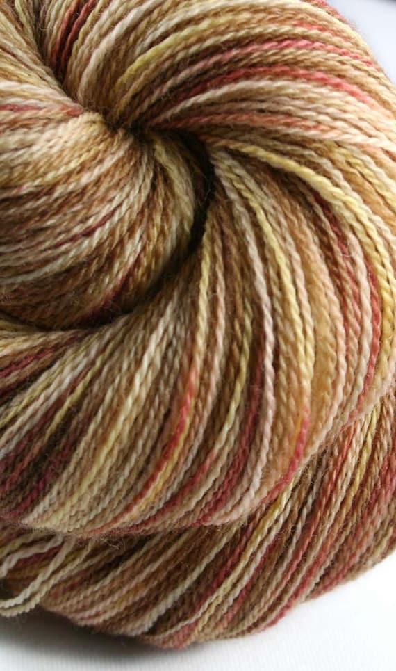 COCO CURRY  Superwash Merino Wool Lace Weight Yarn