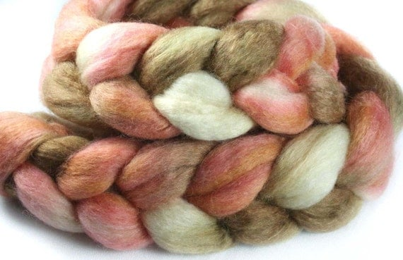 PEACH COBBLER  BFL/Silk Roving - 2.8 oz
