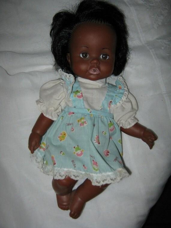 Vintage Doll Ideal Black Vinyl Doll Betsy Wetsy 13 Inches 1972