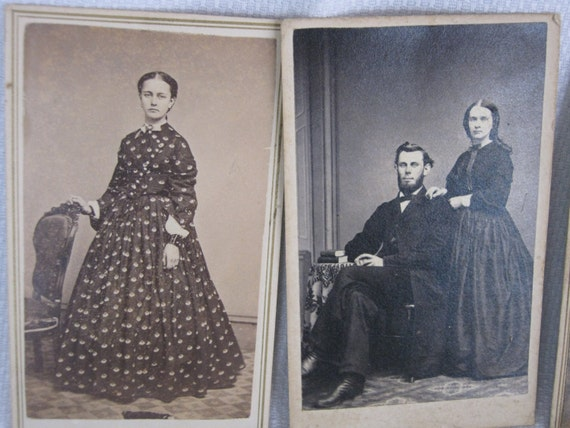 Antique Photos Ladies and Men 1800s Total of Four By Gatormom13  SALE