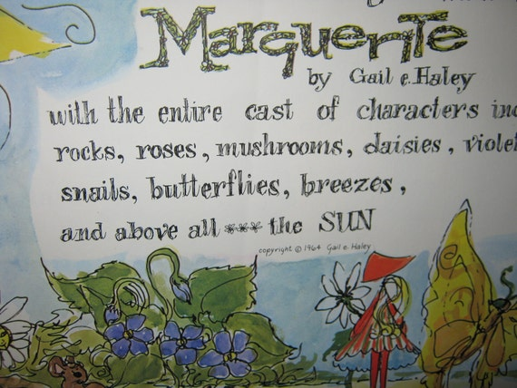 The Wonderful Magical World of Marguerite by Gail E Haley 1964 RARE/ Mid Century Book/  OOP By Gatormom13