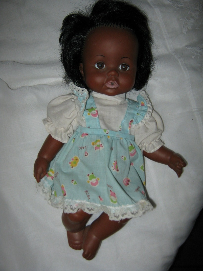 Vintage Doll Ideal Black Vinyl Doll Betsy Wetsy 13 Inches 1972