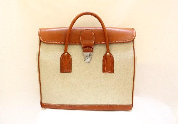 Vintage Travel Luugage / Large Tote Bag