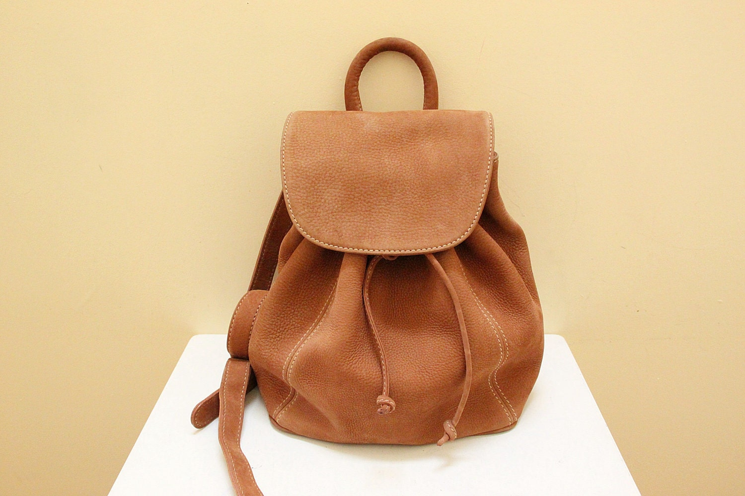 Tan Leather Backpack - Crazy Backpacks
