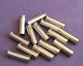 Silver Empty Bullet Shells, 357 Magnum, Cleaned & Polished, Set of 14