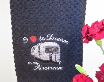 Kitchen towel exclusive design :You will be the first to have a AirStream kitchen towel for your trailer.