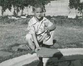 Curbside Boy Original Vintage Photo 67