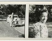 A Car and a Gal Original Vintage Photo 204