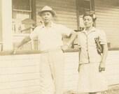 A Lovely Couple 1930s Original Vintage Photo 436