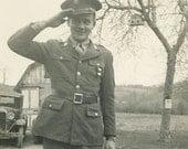 Proud Military Man Original Vintage Photo 648