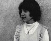 Girl in Grey Tones Original Vintage Photo 700