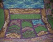 Hand Knit Alpaca Afghan Throw/Textile Art