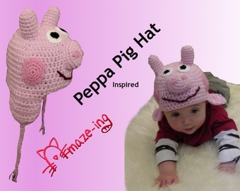 Amaze-ing Peppa Pig - Inspired Hat - Made to Order (All Sizes Available)