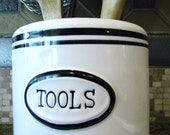 Upcycled Tool Canister for the Kitchen
