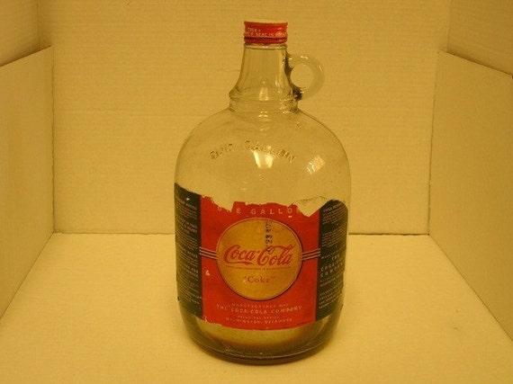 VINTAGE COCA COLA ONE GALLON GLASS JUG SYRUP BOTTLE
