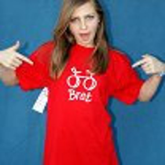 "25% OFF Kids TWEeNS Bicycle T-shirt  Sz LG RED for Your ""Bike Brat"" 100 percent Cotton Large"