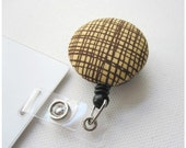 Swivel Clip Badge Reel in Gritty Graph