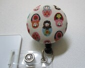 Swivel Clip Badge Reel in Matryoshka