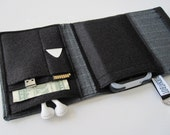Nerd Herder gadget wallet in Sharp Suit- iPhone, Android, iPod, cell phone, earbuds, SD cards, guitar pick case