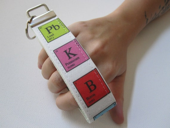 Key Fob Wristlet- Periodic Table of Elements