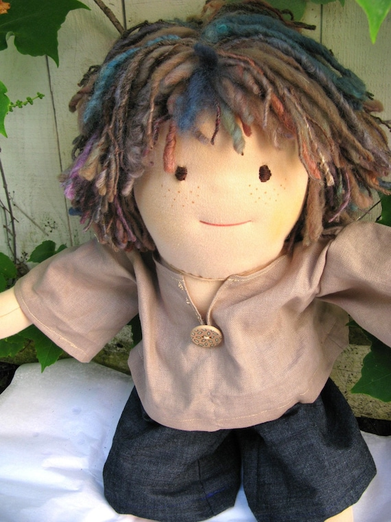 Special Price - Raif 16 inch Organic All Natural Boy - Rainbow Dolls Waldorf Inspired Doll
