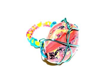 Colorful Handmade Wire Ring