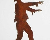 Zombie Profile Steel Refrigerator Magnet