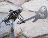 Zombie Skeleton Clash Bass Guitar Smash