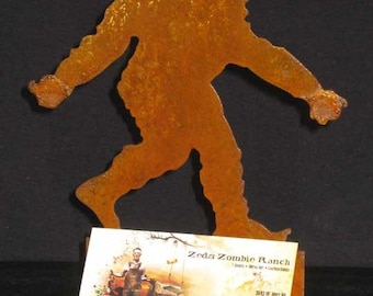 Bigfoot Sasquatch Yeti Silhouette Business Card Holder